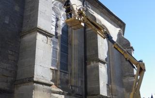 Eglise Neuilly en Thelle (Oise), réfection des grilles de protection des vitraux